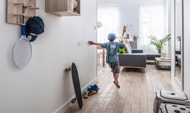 חיפוי קירות פולימרי 100% עמיד במים Kerradeco דגם ''STONE IVORY''