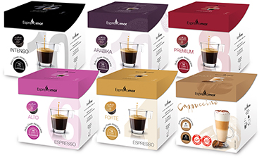 160 קפסולות תואמות דולצה גוסטו Espressomor Mix Dolce Gusto