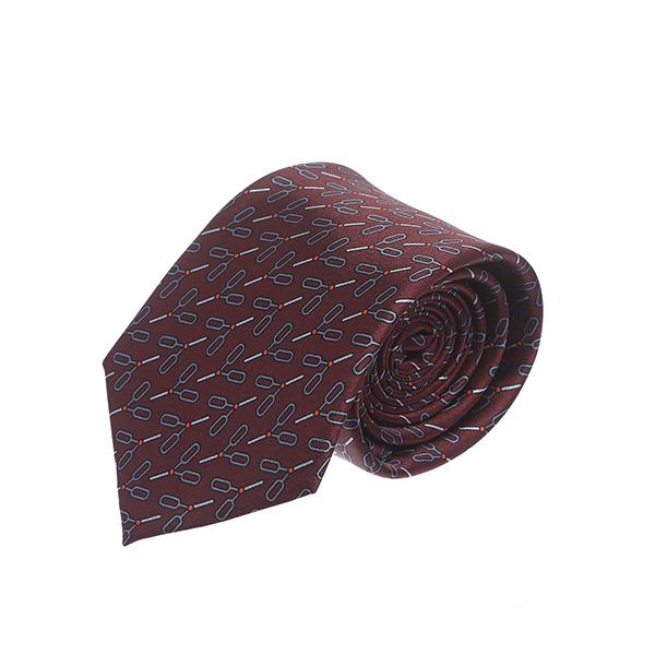 עניבה מספריים בורדו/חום