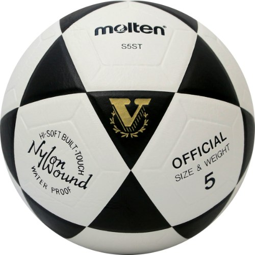 כדורגל מולטן ST - משטח קשיח - שחור לבן Molten