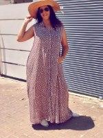שמלת מנהטן פודרה נקודות