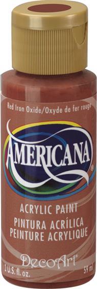 """צבע אמריקנה 59 מ""""ל Red Iron Oxide DAO96"""