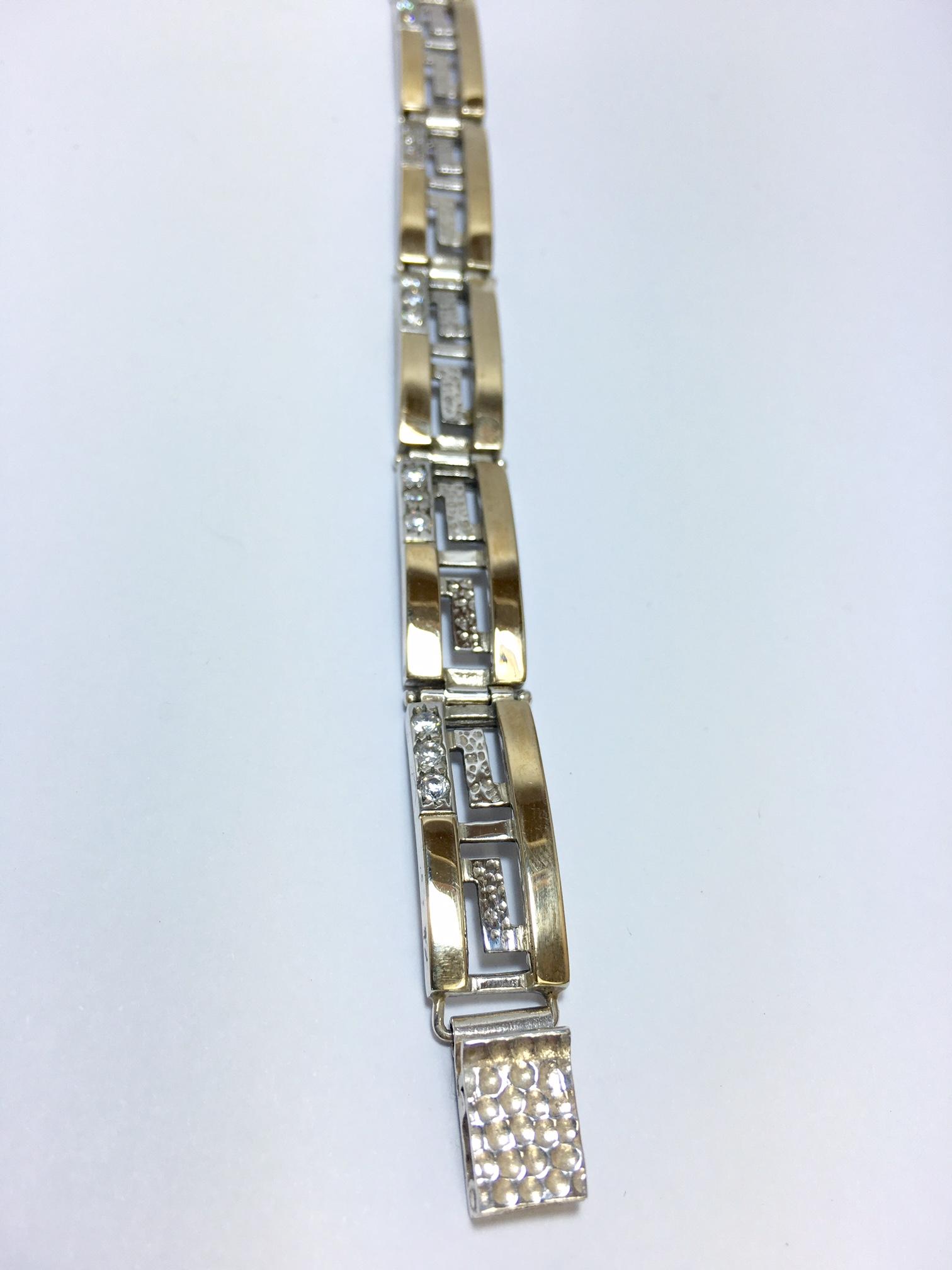 צמיד נשים כסף 925 משולב זהב MY05130043285