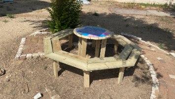 שולחן קקל עגול (6-8 מקומות )