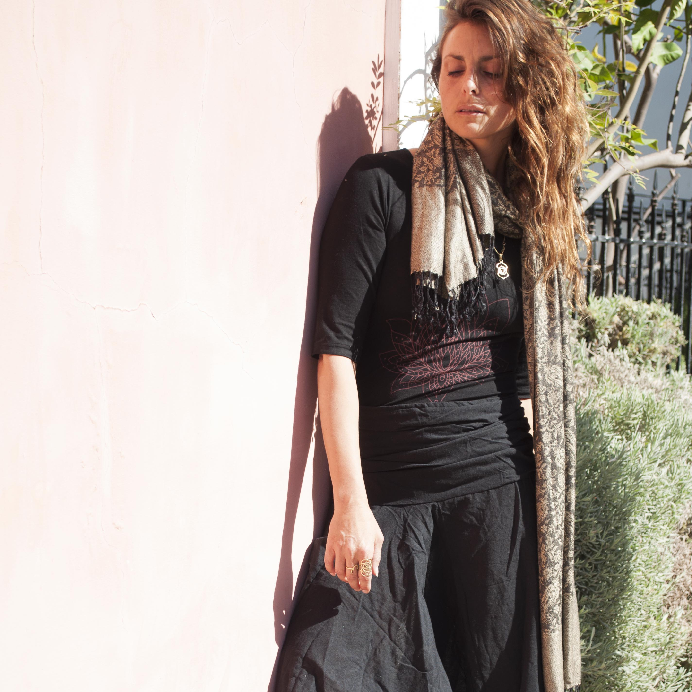 מכנסי אלאדין כותנה נפאלית שחור