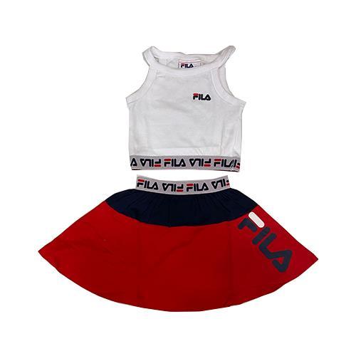 חליפת חצאית אדומה FILA