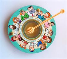 Shanabekef כלי לדבש ותפוחים משפחה מתוקה Dvash_14