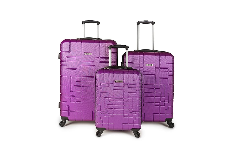 סט מזוודות איכותי AMERICAN EXPLORER- צבע סגול