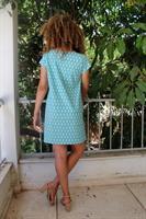 שמלת לילי טורקיז מעוינים