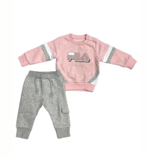 חליפת פוטר ורוד אפור תינוקת (N.B-18-24)