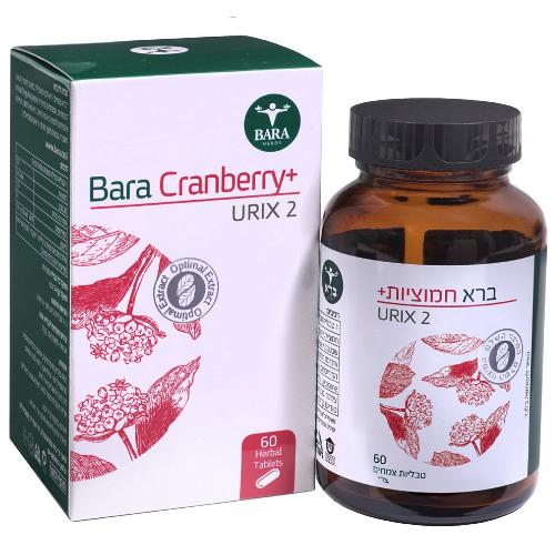 Cranberry plus - ברא חמוציות פלוס, 60 טבליות, ברא