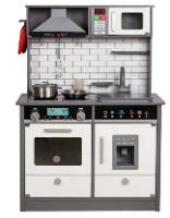 SPTY493 - מטבח עץ לילדים בצבע אפור - קפיץ קפוץ
