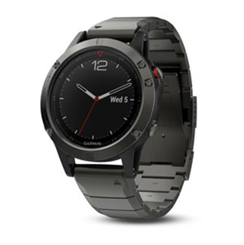 Garmin Fenix 5 Sapphire Slate gray with metal band שעון דופק