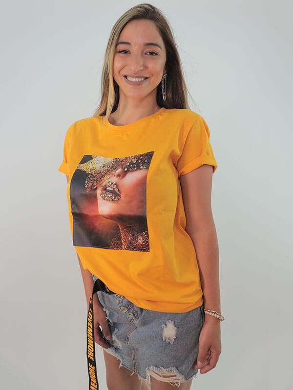 חולצה Mili-צהוב/לבן