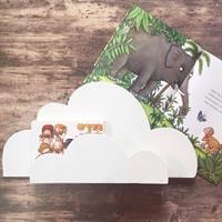 מדף ענן לספרים או דקורציה