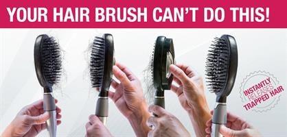 מברשת שיער מתנקה בקליק Qwik Clean Brush