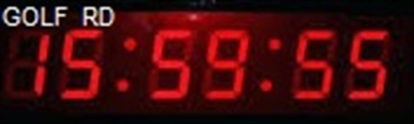 שעון קיר חשמלי לד GOLF 9623 טיימר וסטופר
