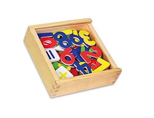מגנטים עץ מספרים בקופסא 37 יחידות - VIGA