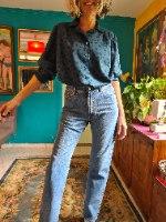 ג'ינס כחול בגזרה ישרה מידה L