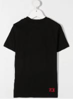 טישירט שחורה DIESEL לוגו אדום/לבן - 4-16 שנים