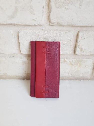 ארנק דמוי עור בינוני אדום 4041