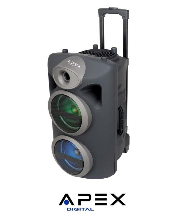 APEX רמקול קריוקי ''2X6.5 עם מיקרופון אלחוטי דגם AP1430