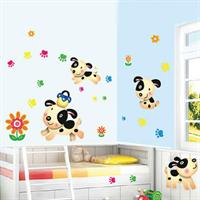 מדבקת קיר לחדר ילדים happy dogs