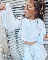 חליפת מכנס פשתן לבן