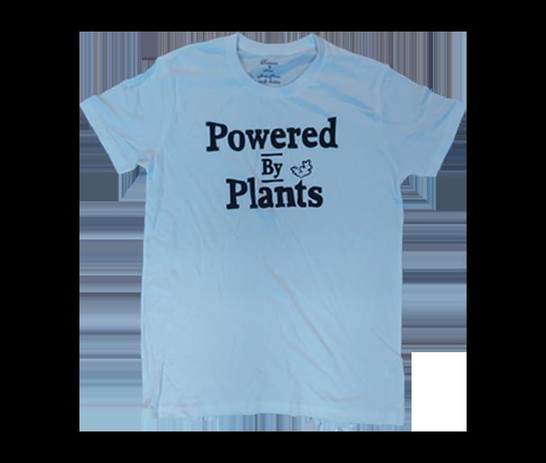 חולצה לבנה - Powered by plants יוניסקס