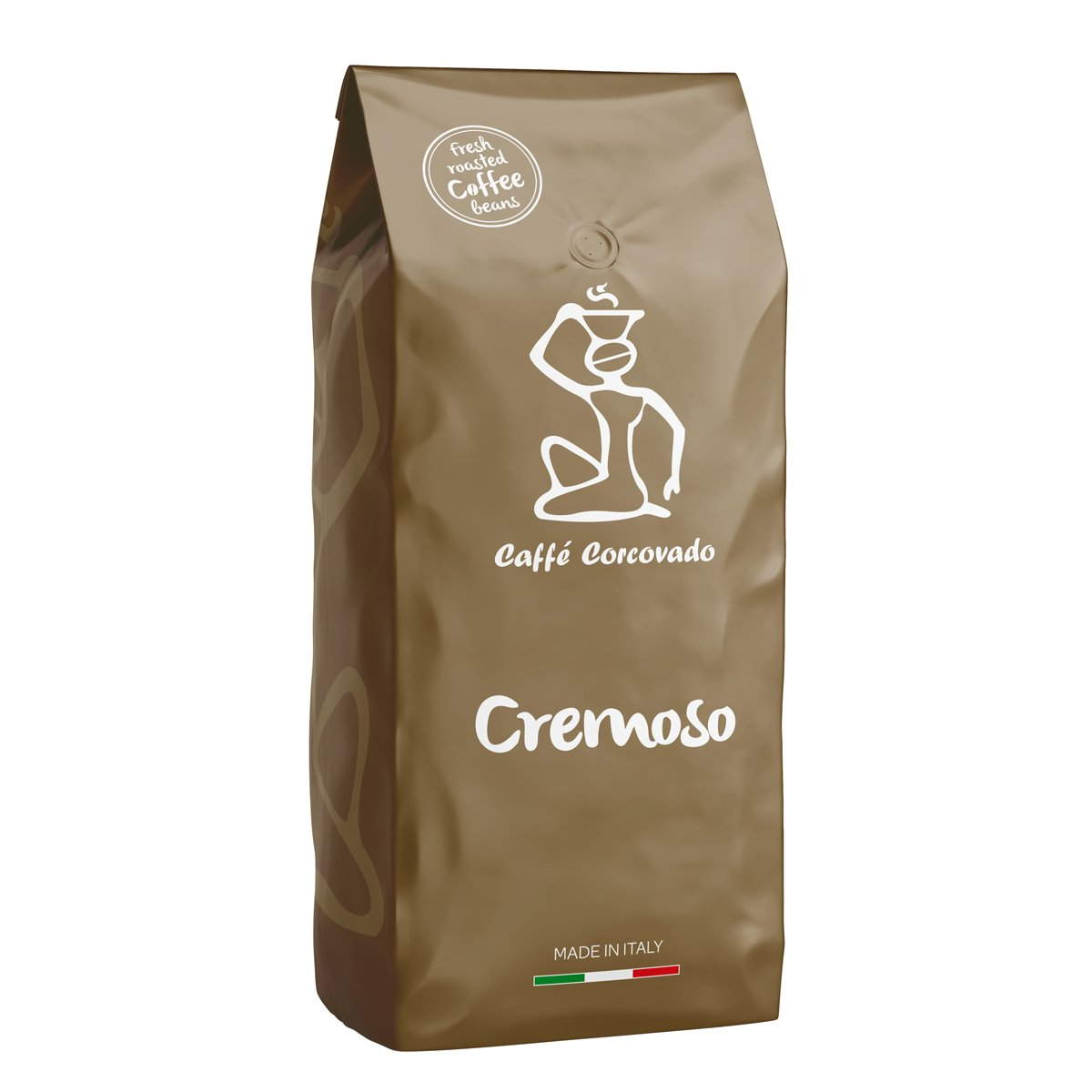 """פולי קפה 1 ק""""ג Caffe Corcovado Cremoso"""