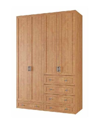 ארון 4 דלתות 5 מגירות דגם קשת