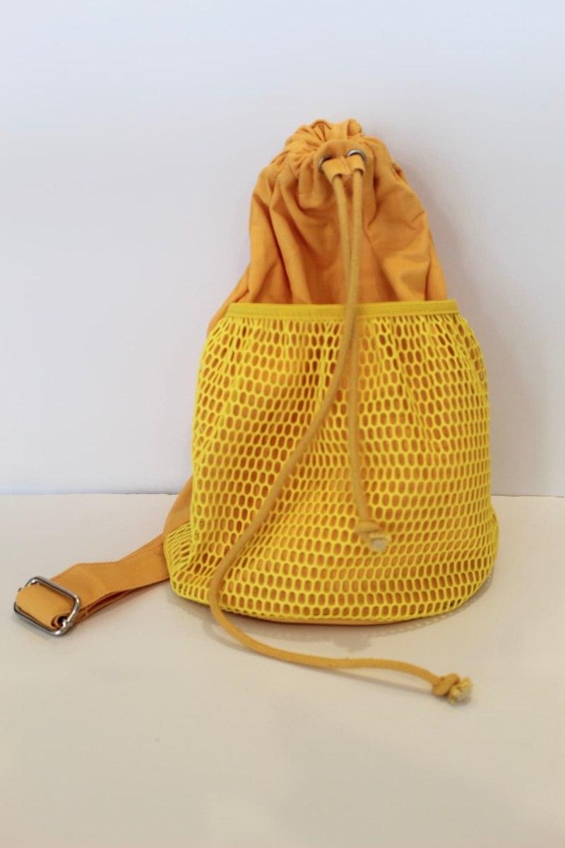 תיק גב רשת צהוב