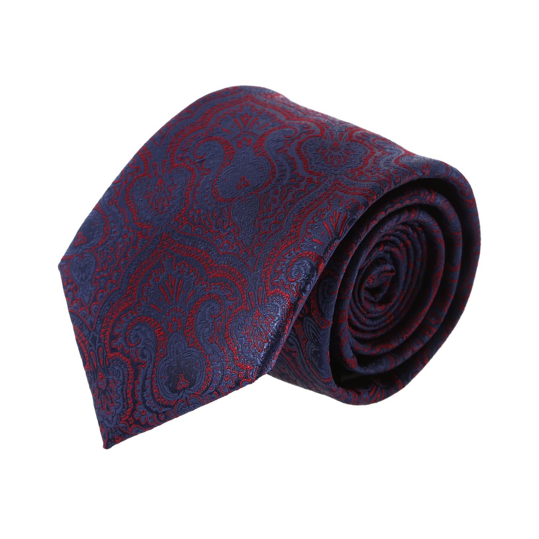 עניבה קלאסית פייזלי גדול סגול כהה