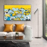ציור פופ ארט צבעוני גדול לסלון של האמן כפיר תג'ר