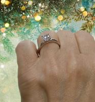 טבעת יהלום 0.81 קראט
