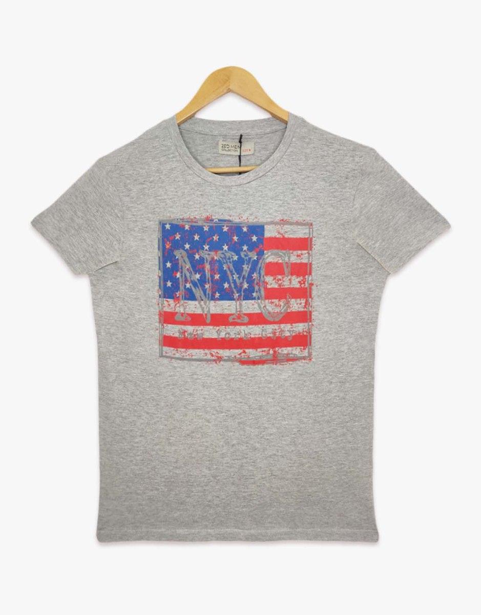 חולצת טריקו גברים מודפס NYC