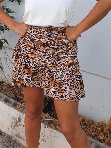 חצאית CROSS הדפס מנומר