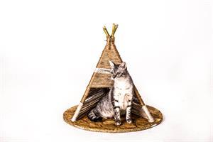 אוהל טיפי לחתול