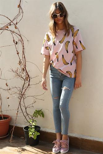 ג'ינס סקיני ג'רזי קרעים