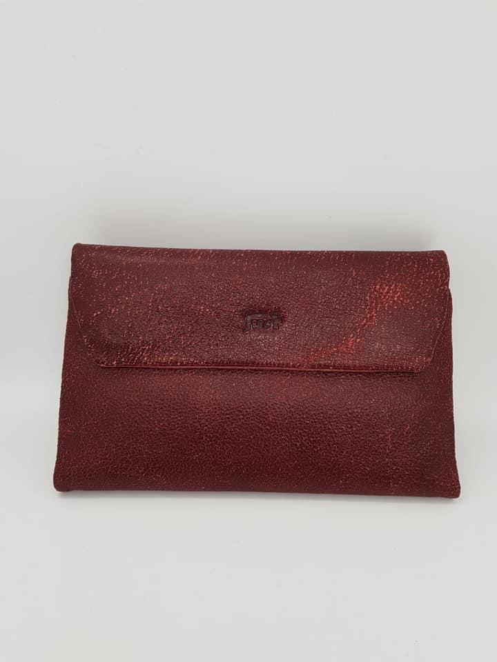 ארנק עור 6005  זמש אדום