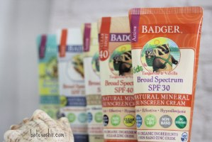 קרם הגנה badger|ילדים בניחוח עדין של תפוז 30spf