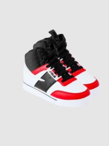 FILA נעל סניקרס גבוהה שחור אדום מידות 22-29