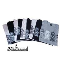 חולצה לתקופות מעבר הדפס גראפי נעול צבע שחור