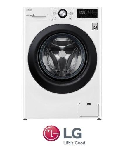 "LG מכונת כביסה 7 ק""גדגם F1607BDדלת שחורה"