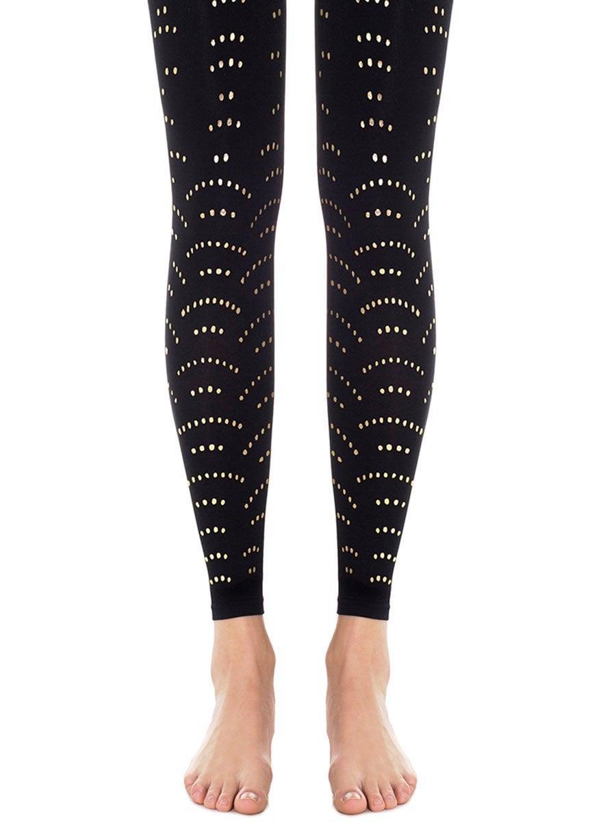 גרביון ללא כף רגל 'GOLDEN DOT BLACK ' - שחור