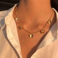שרשרת  תליון פרפר זהב נדירה לנשים!