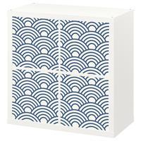 4 יח' טפט להדבקה על דלת כוורת (KALLAX)- תבנית כחול כהה