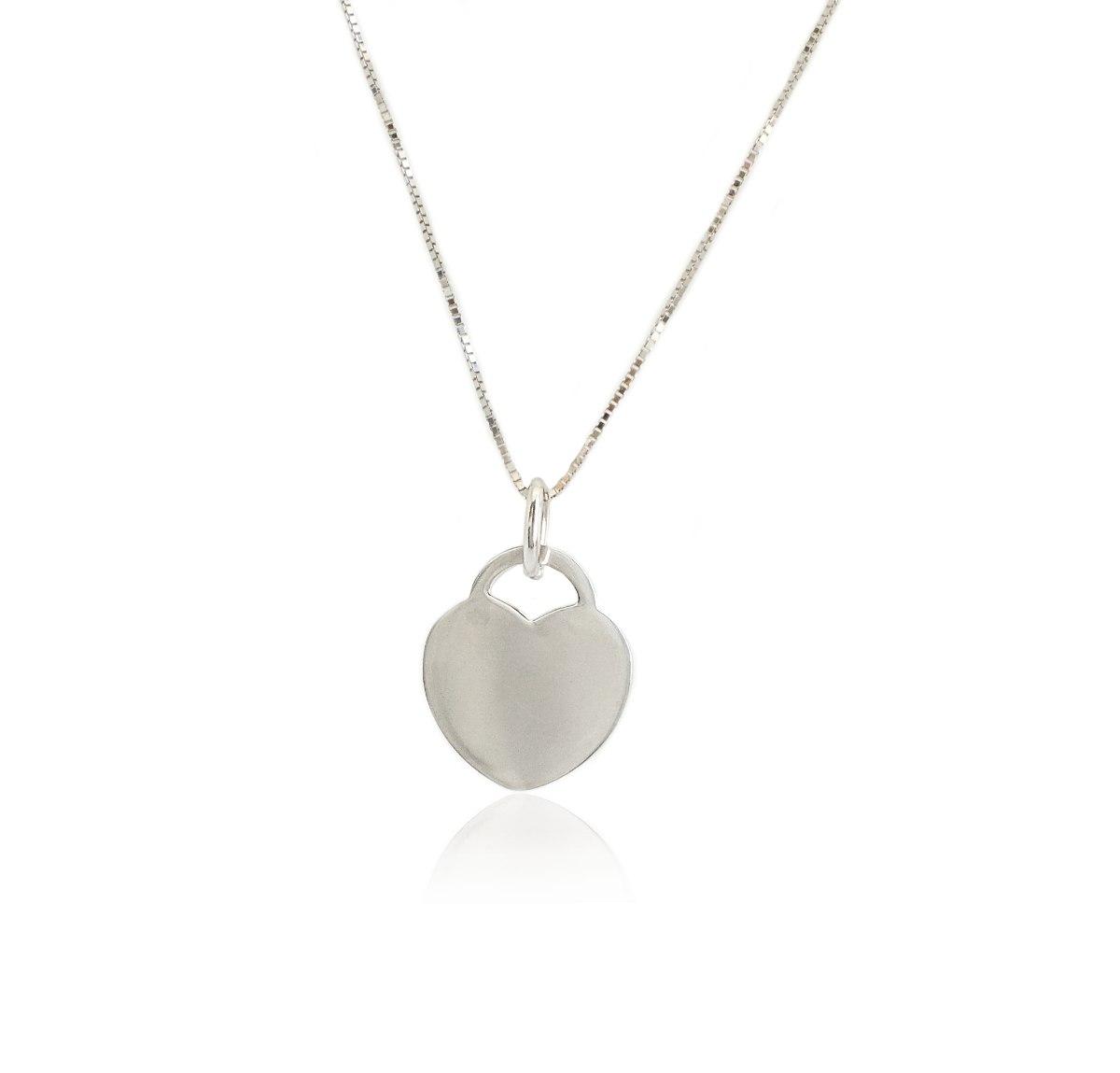 שרשרת זהב לבן עם תליון לב|מתנה אישית