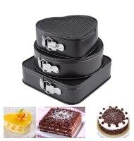 סט 3 תבניות עוגה בצורות וגדלים שונים