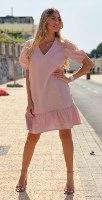שמלת מוניק ורוד THOMAS